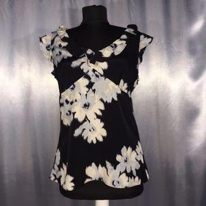 Loft Ann Taylor womens floral blouse